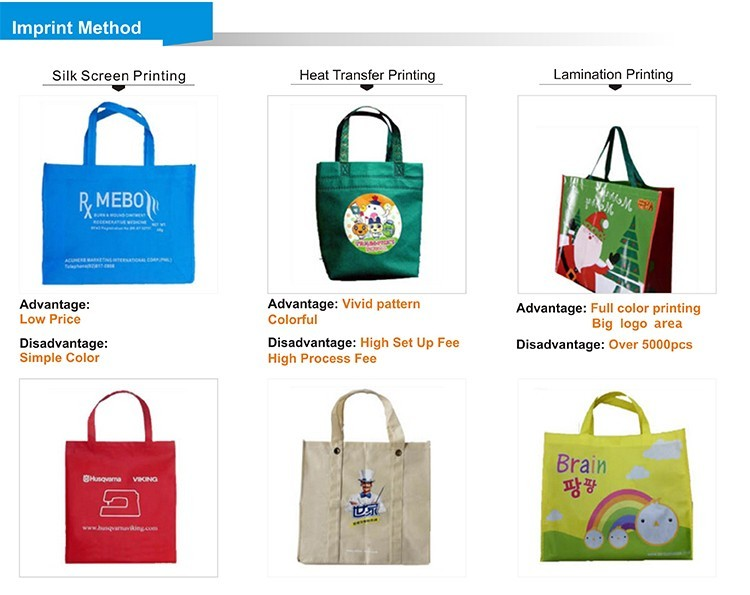 Promotional 100% Recyclable Cheap Customized Non Woven Shopping Bag