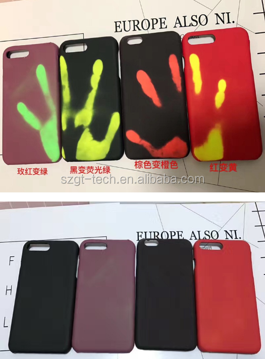 Heat Sensitive Induction Discoloration temperature Change color Mobile Phone case for iPhone7