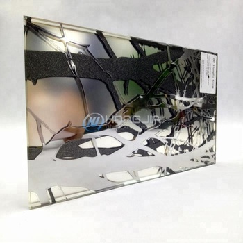 Home decoration colored art deco mirror glass sheet