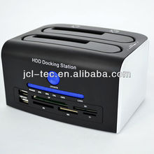 "HDD Clone Docking Station 2 Bay USB3.0 S-ATA 2.5"" & 3.5""+USB2.0 Card Reader+USB HUB"