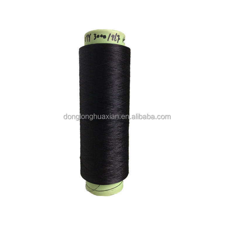 100% Polyester Yarn Dope Dyed DTY 300D
