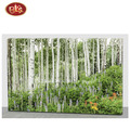 Nice Forest Scenery with Fiber Light Up Canvas Painting For Wall Decoration