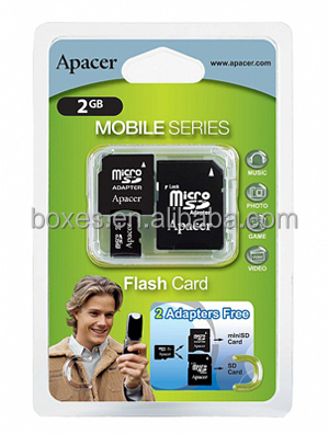 Custom printed micro sd card blister packaging