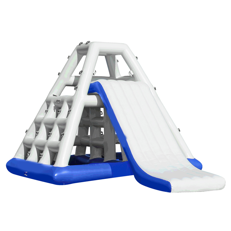 Gigantic inflatable water play climbing slide for water park