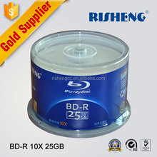 RISHENG 50 Pieces 25GB BD-r TDK/wholesale Grade A+ quality Blank Printable Blu Ray/bdr-25gb