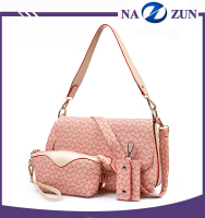 2016 Cheap Price Wholesale Shoulder Bag PU Messenger Bags 3 Pieces PU Women Bag Set for Ladies