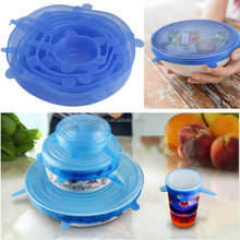 Multi 6 pack Silicone Food Covers Suction Lids, Silicone Flexible Stretch Lids