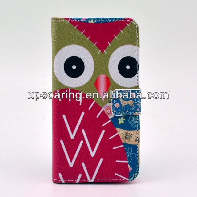 Owl designed wallet Stand case pouch for Samsung Galaxy Note 3 N9000
