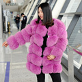 CX-G-A-109A Winter Real Fox Fur Ladies' Clothes Women Coat