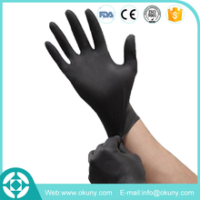 OEM service medical black nitrile powder free gloves with cheap price