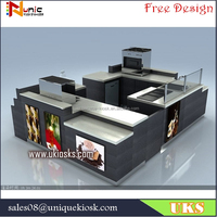 high quality new design, coffee kiosk / juice kiosk / ice cream kiosk design in mall for sale