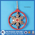 Hot sale Wooden Christmas snow flake 3D Hanging Ornament
