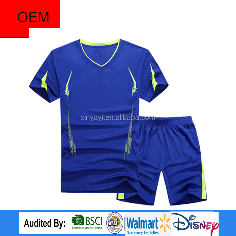 High Quality Manufacturer polyester Fabric Shirt sports suit in China Supplier