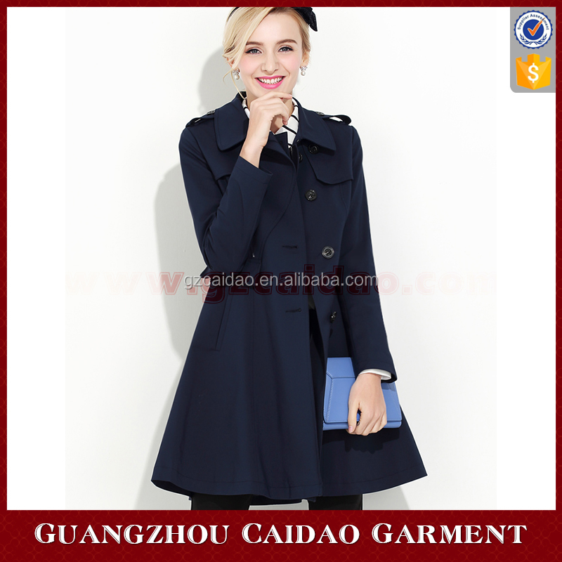 Custom Fashion Midi Winter Coat Women 2016