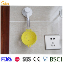 hot sale online small shape smart cute soft silicone pot strainer