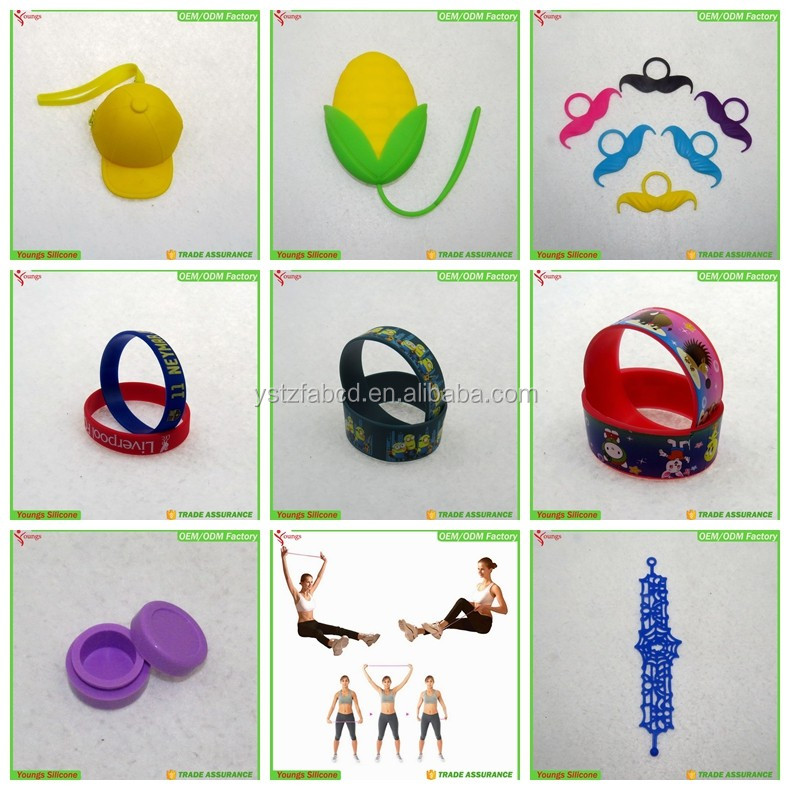 2016 china supplier free sample BPA free creative holiday gifts/bracelets/wristbands/tension straps