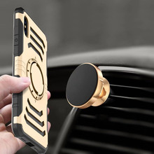 Car use magnetic phone holder case for samsung galaxy note 8 mobile phone accessories plastic tpu armband note 8 case cover