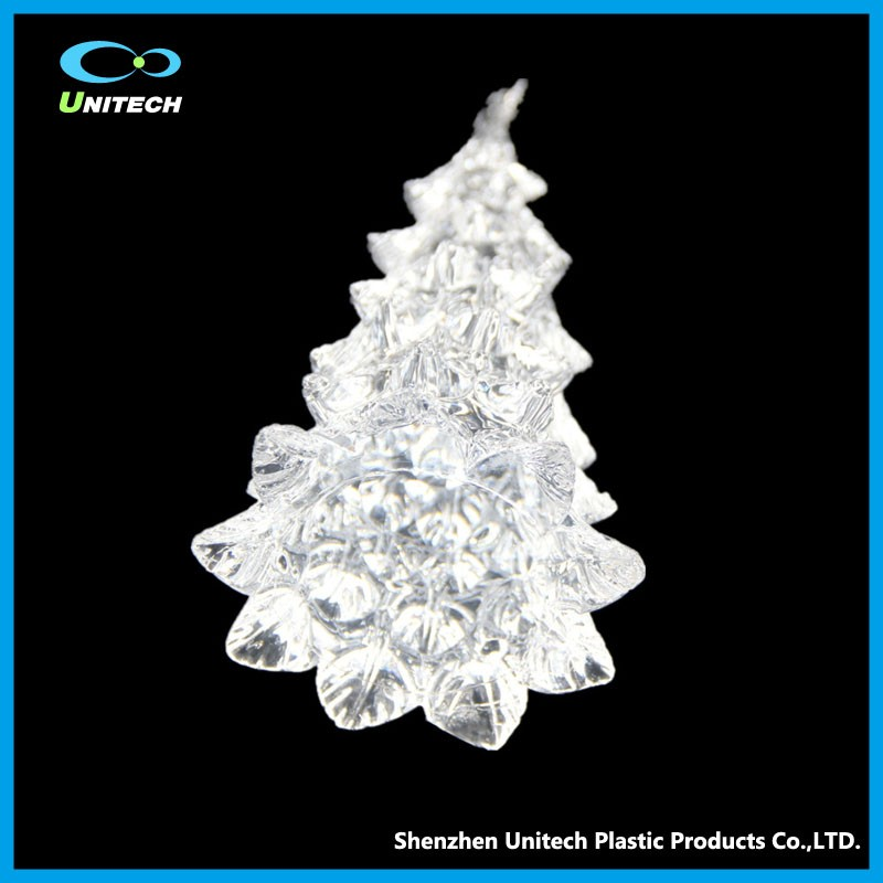 Promotion craft supplies acrylic lighted christmas cone tree