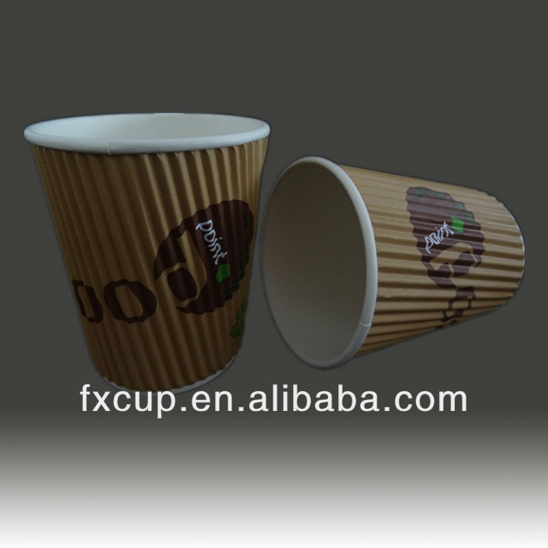 8oz Hot Saled rippled wall cup