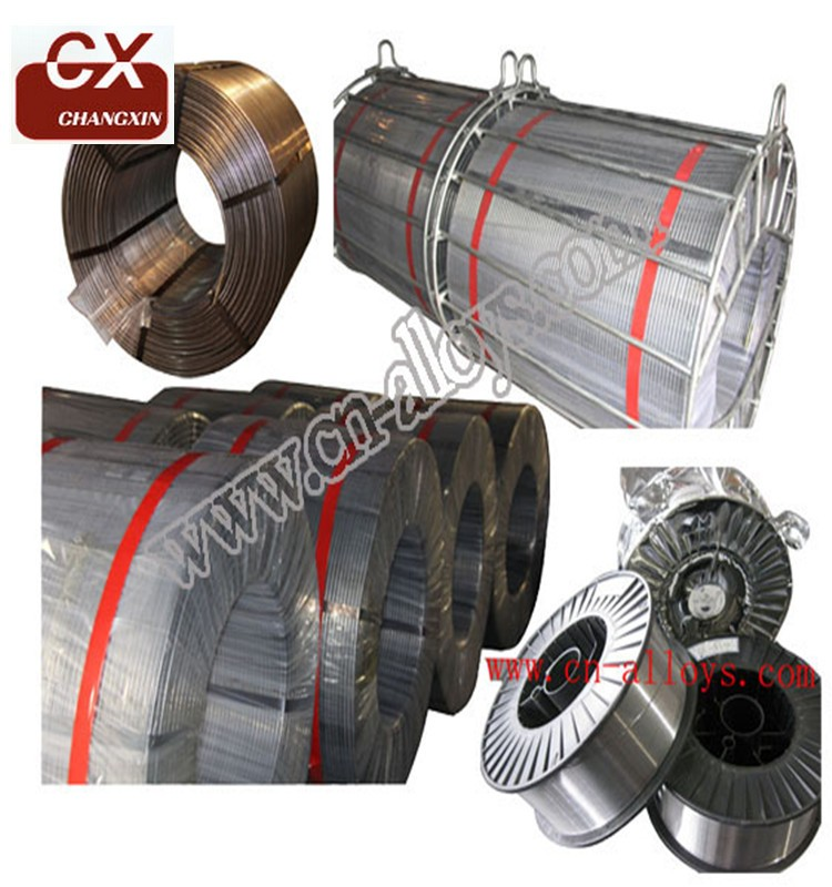 Factory produce silicon calcium cored wire /SiCa/CaSi with packing steel pallet and iron cage