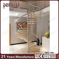 demose curved spiral staircase / stairs grill design