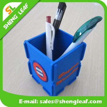 Factory cost Cute eco-friendly retractable pen holder/pro-environment pen container