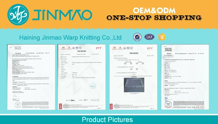 Green Eco light box fabric sublimation printing knitted fabric backlit fabric with FR