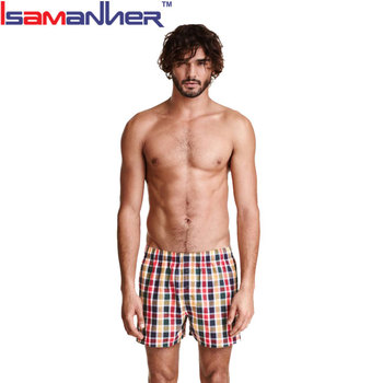 Washable men short pants quick dry boxer briefs men with button