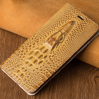 Alligator Pattern Strong Magnet Card 3D Crocodile Leather Wallet Case For iphone 7 /7 plus