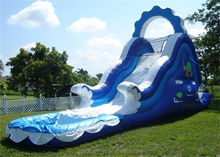 Hot sale wave jumbo water slide inflatable water slide pool