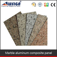 exterior wall cladding stone finish aluminum composite panel