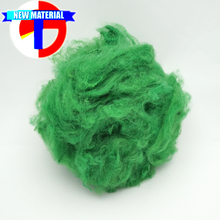 nonwoven type quality recycled colored synthetic polyester fiber