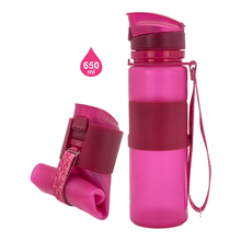 customised foldable leakproof sports water bottle