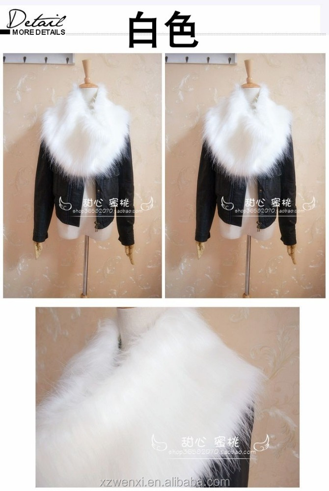 Aliexpress hot sale winter warm fashion faux fur scarf woman collar