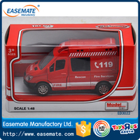 1:48 diecast model fire cars pull back mini alloy simulation ambulance car for kids