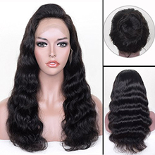 150% Density Body Wave Virgin Brazilian Human Hair 360 Lace Frontal Wigs with Baby Hair