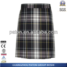 laster Design Girl's School Uniform Knee Plaid Skirt