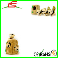 china suppliers Plush Puppies doll Hide A Squirrel for Dog Toy