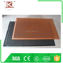 Beveled perforated rubber floor mats