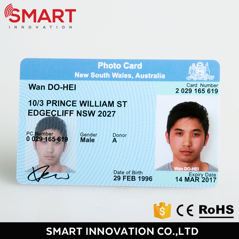 Qualified manufacturer custom pvc student photo id card