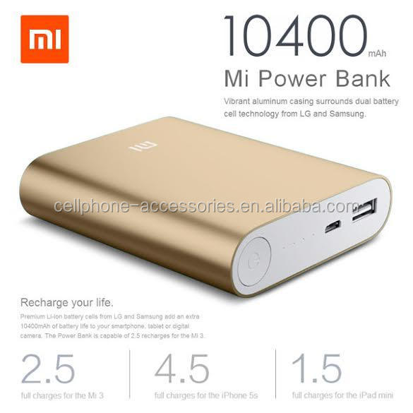 Factory price high capacity 10400 mah original xiaomi wireless portable power bank for smart phone iPhone 7
