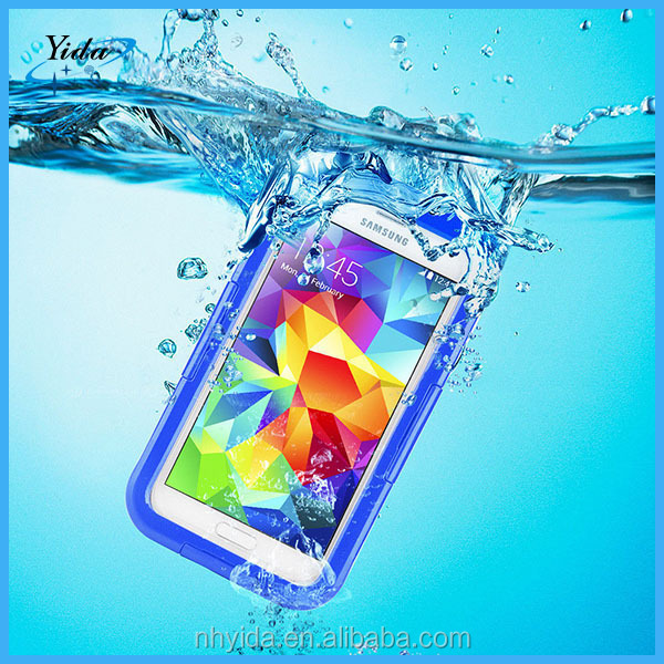 Waterproof case for Samsung Galaxy S5 Shockproof PVC Protective Plastic Mobile phone Case