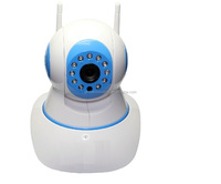 Home Baby Care Security Wireless Alarm System with Pan IR 15m IP Camera Support 64G SD Card CE FCC W6A