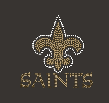 Saints Wholesale Rhinestone Iron On Transfer design