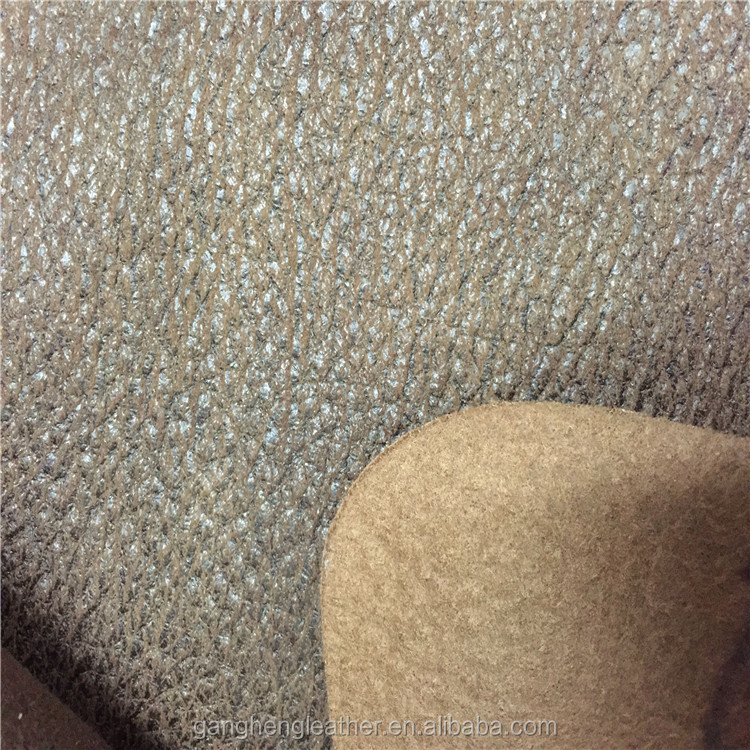 Embossed synthetic leather fabric for sofa cover with soft hand feeling