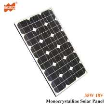 35W 18V Monocrystalline Silicon Solar Panel Module with CE, RoHS, UL,TUV Certificate