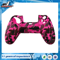 Hot Selling and Good Price Camouflage Pink Controller Silicone Case for PS4 Controller