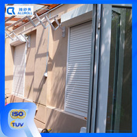 Shutter type vertical patter exterior sliding window roller shutter