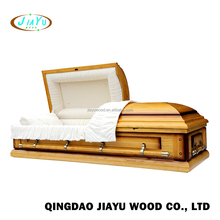Colors of funeral supplies wholesale cloth covered american metal bed coffin casket