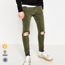 2017 new design bulk wholesale color skinny jeans for men